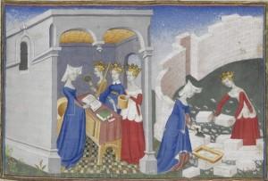Christine de Pizan, La cité des dames, BnF Ms. Fr 607 f.2r.